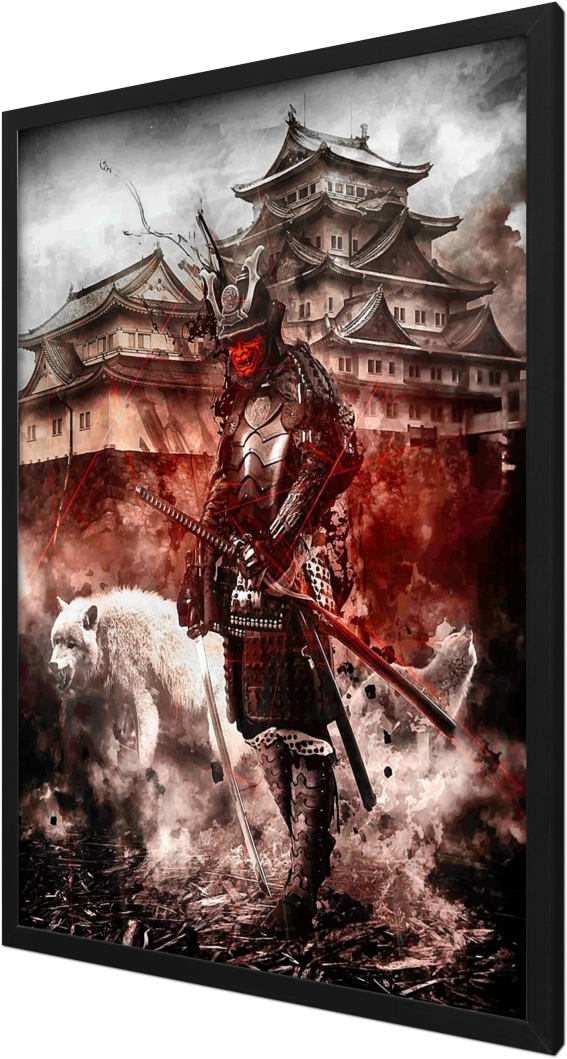 Red Oni Samurai white wolves