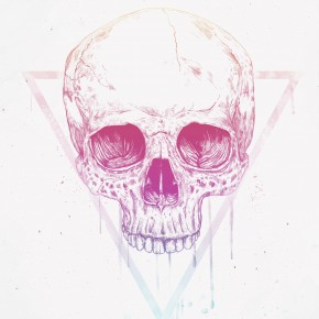 Skull in a triangle