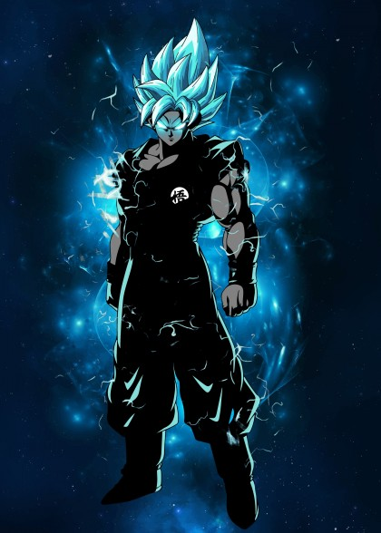 Ultimate blue god warrior
