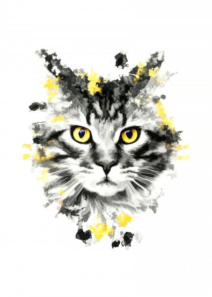 Cat with yellow eyes