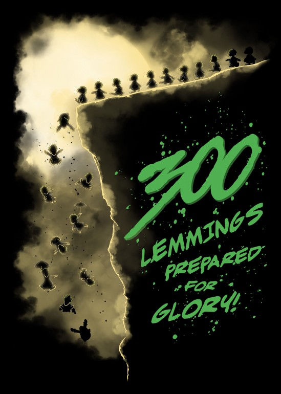 300 Lemmings, video games, gaming, lemmings, nostalgia, movies, comics, 300, spartans, parody