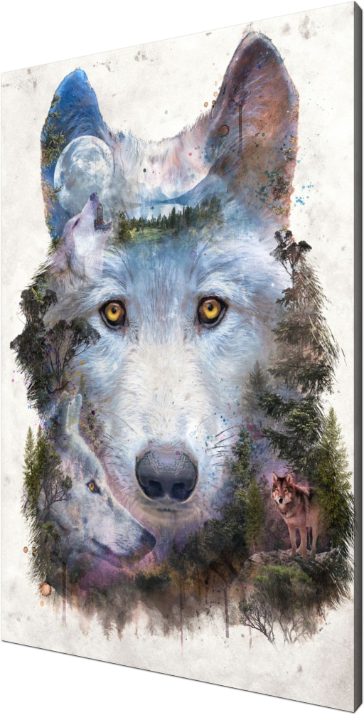 Howl with Wolves, wolf, wolves, nature, surreal, surrealism, moon, howl, pack, wild, wildlife, dog, animal, animals, forest, hunter, predator, strength, power, spirit, eyes