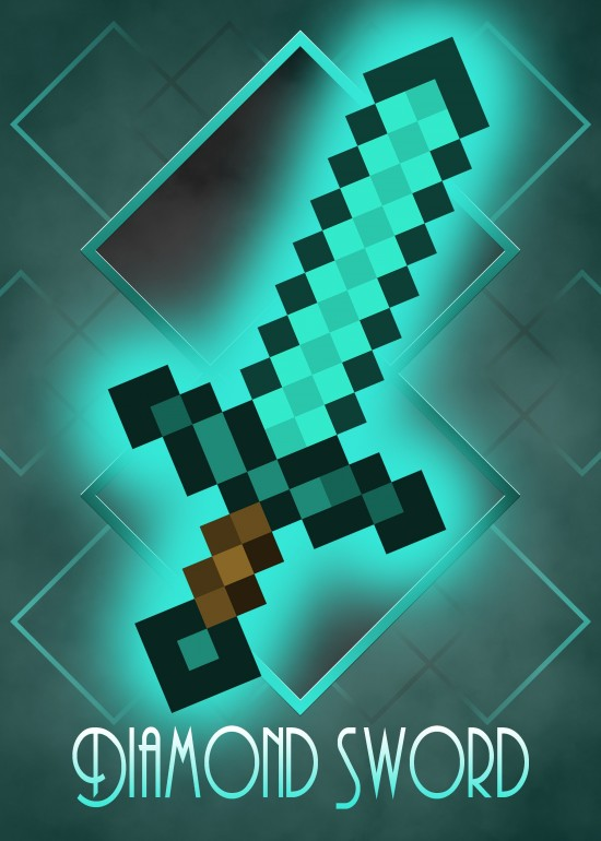 Minecraft Diamond Sword, Minecraft, Golden, Diamond, Netherite, Iron, Stone, Wood, Axe, Hoe, Pickaxe, Shovel, Sword, Dungeons, Mining, Crafting, Hermitcraft, Block, Creeper, Enderman, Piglin