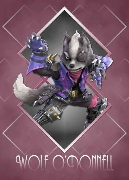 Super Smash Bros Ultimate Star Fox Wolf O'Donnell