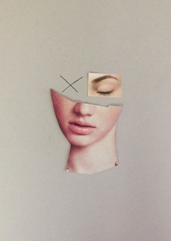 poster, collage, pocter, womanface, minimalism