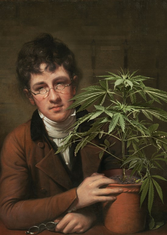 Rubens Peale With a Cannabis, art, artist, joseluisguerrero, jose_luis_Guerrero, iconoclast, decontext, digital art, modern art, collage, abstract, deco, interior design, illustration, new renaissance