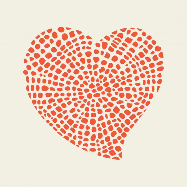 heart, abstract, graphic, heart, minimal, red, retro, valentines day