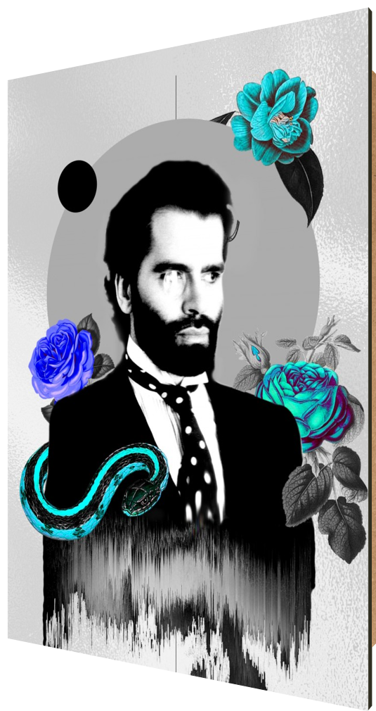 Young Karl, fashion, chanel, collage, modern, design, vintage, poster