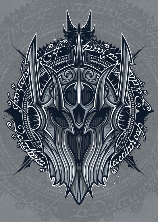 Saulord, Sauron, lotr, movie, villain, mordor, vector