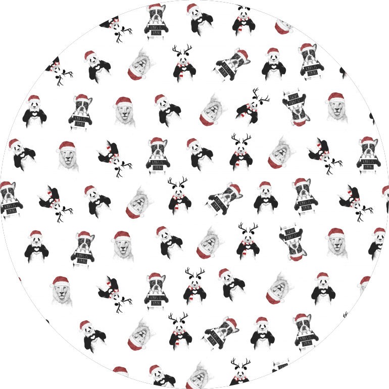 Xmas pattern, xmas, holidays, winter, animals, panda, lion, dog, humor, funny, pattern