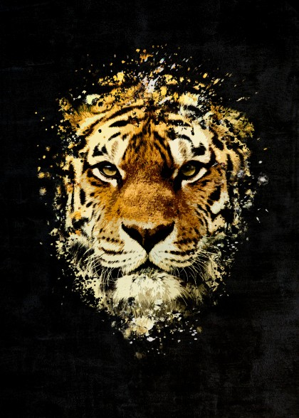 Tiger Splatter Painting