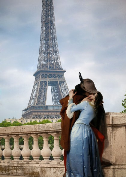 The kiss in Paris